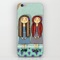 twins iPhone & iPod Skins featuring Twins by ilana exelby