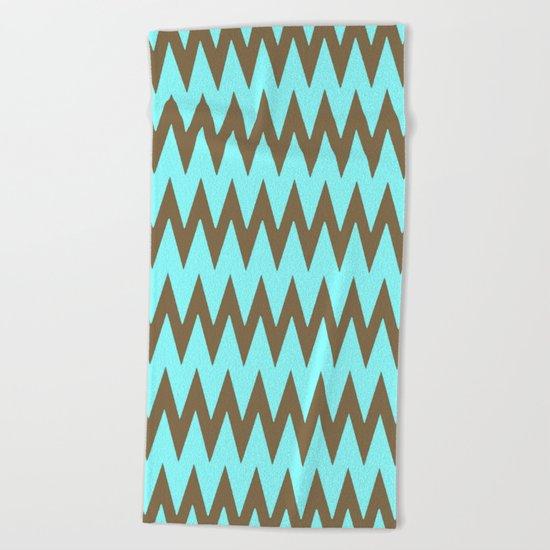 Mocha Mint Frappuccino Chevron Beach Towel