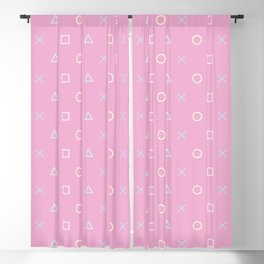 Gamer Girl - Pastel Playstation Controller Buttons Blackout Curtain