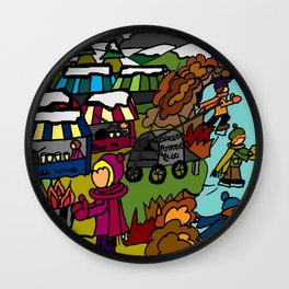 MEMORIES OF WINTER Wall Clock