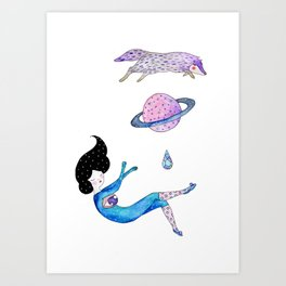 cosmos and wolf  Art Print