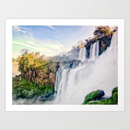 Cascading Iguazu Falls Fine Art Print by sidecarphoto