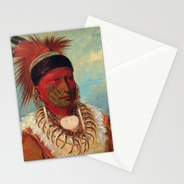 The White Cloud, Head Chief of the Iowas by George Catlin Stationery Cards