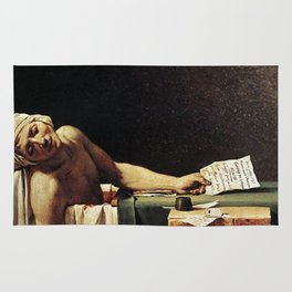 Death of Marat by - Jacques-Louis David Rug