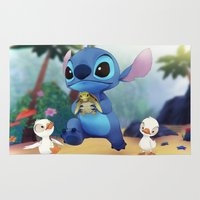 stitch Area & Throw Rugs featuring Stitch by beastace