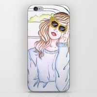 trip iPhone & iPod Skins featuring Trip by Clara Serenellini