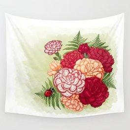 Full bloom | Ladybug carnation Wall Tapestry