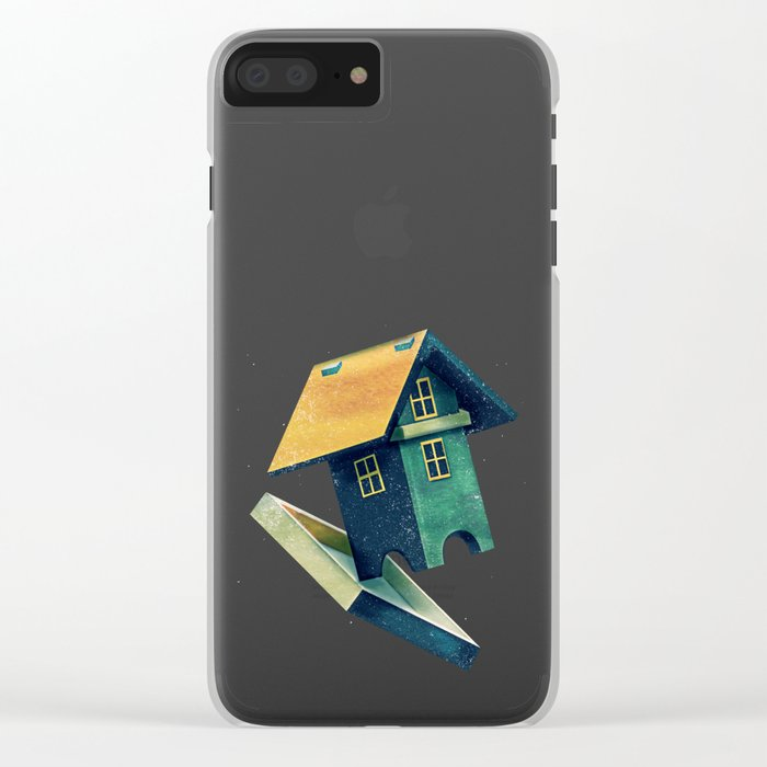 Flying Bird...house Clear iPhone Case