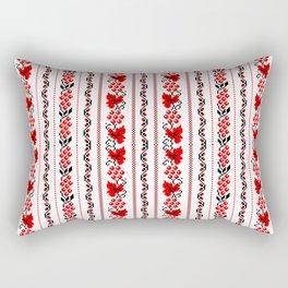 Ethno Ukrainian Pattern - Grape Guelder rose Oak - Symbol Vertical Rectangular Pillow