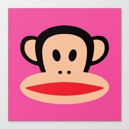 Julius Monkey by Paul Frank - Pink Canvas Print