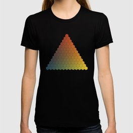 Lichtenberg-Mayer Colour Triangle vintage variation, Remake of Mayers original idea of 12 chambers T-shirt