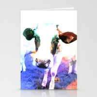 cow Stationery Cards featuring cow by Sarah Jane Connors