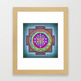 Sri Yantra VII.VII Framed Art Print