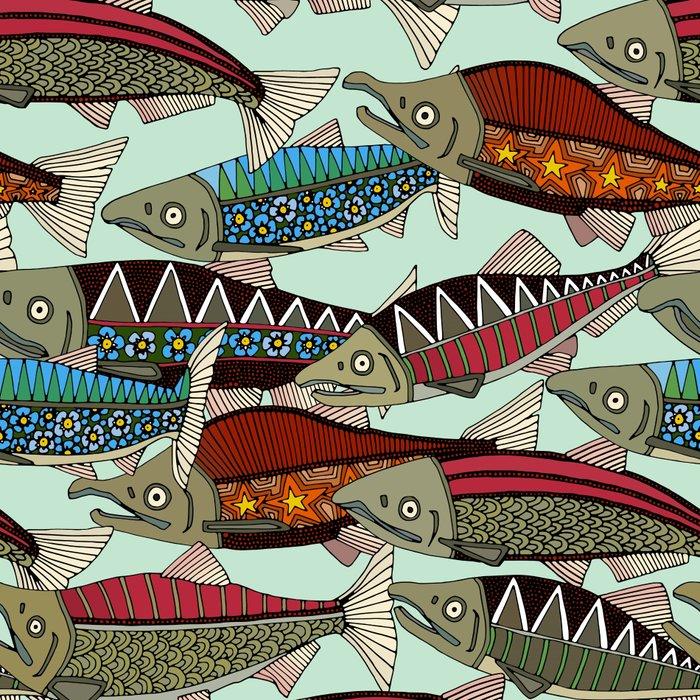 Alaskan salmon mint Leggings