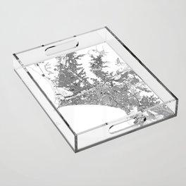 Lima White Map Acrylic Tray