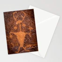 Moab Man Petroglyph Portrait - Utah Stationery Cards