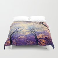 bebop Duvet Covers featuring Snow Angel's View - Nature's Painting (color 2) by soaring anchor designs