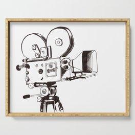 Vintage Filming Serving Tray