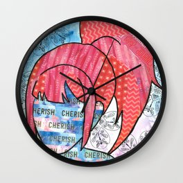 Cherish Yourself (Every Day) Wall Clock
