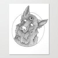 german shepherd Canvas Prints featuring German Shepherd  by Alvisino