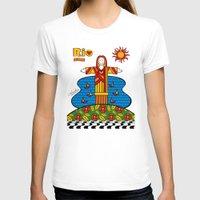 rio T-shirts featuring Cristo Rio by Monica Fuchshuber
