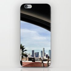 Driving by the LA skyline. iPhone & iPod Skin