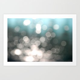 Aqua and Grey Art Print