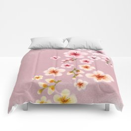 Cherry blossom storm Comforters