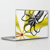 kraken Laptop & iPad Skins featuring Kraken Up by Ben Stevens
