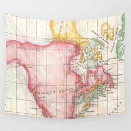Vintage Map of North America (1772) Wall Tapestry