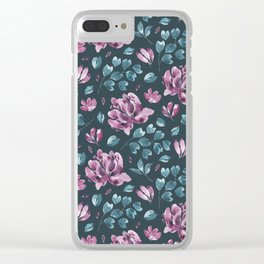 They Only Come Out At Night - Beautiful Abstract Flowers Clear iPhone Case