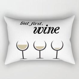 First, White Wine Rectangular Pillow