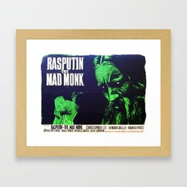 Rasputin, The Mad Monk, vintage horror movie poster Framed Art Print