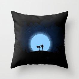 Night fight Throw Pillow