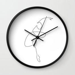 Fine Ballerina Wall Clock