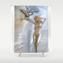 Goddess of Nature Shower Curtain