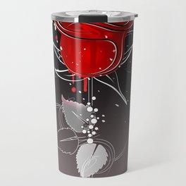 Dark red rose Travel Mug