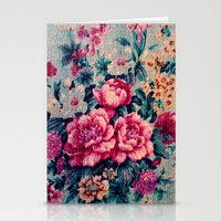 vintage floral Stationery Cards featuring Vintage Floral  by CLE.ArT.