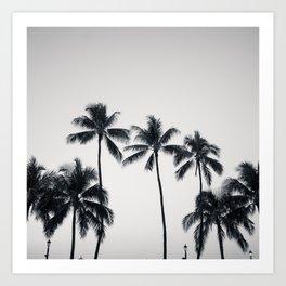 palmtreeeeeee ver.black Art Print