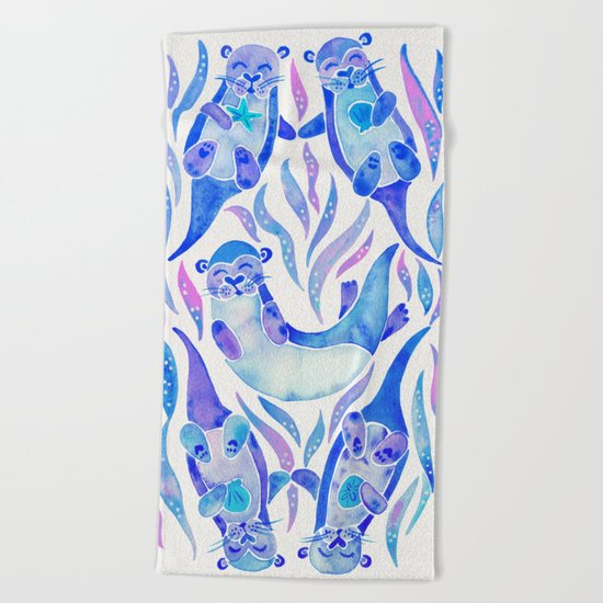 Five Otters – Indigo Ombré Beach Towel
