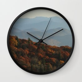 Blue Ridge Mountains Wall Clock