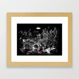 Tower Bridge Black and White Framed Art Print