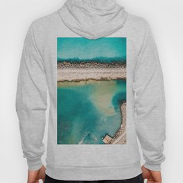 Feel The Summer, Aerial Print, Turquoise Ocean Print, Sea Art Print, Modern Wall Art Hoody