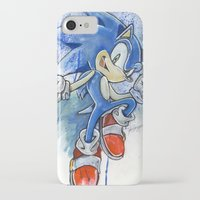 sonic iPhone & iPod Cases featuring Sonic by Luke Jonathon Fielding