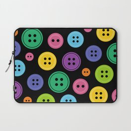 Colorful Rainbow Buttons Laptop Sleeve