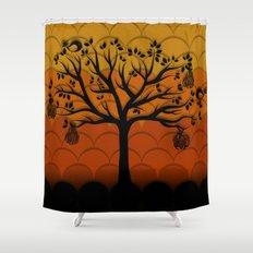 Fruits Talk Shower Curtain