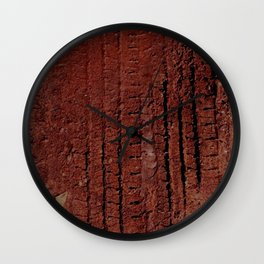 tire tracks in mud! fun!! Wall Clock