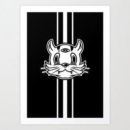 Super Nice Demon Cat! Art Print
