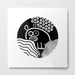 Ugly Bear /Marek/ Metal Print