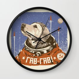 Soviet Space Dog Wall Clock